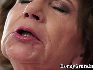 Granny interracial fucked